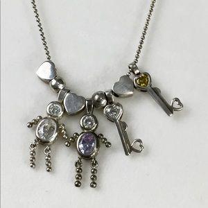 Jewelry - 925 Sterling Silver Children  birthstone Necklace